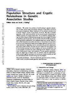 Population Structure and Cryptic Relatedness in Genetic Association Studies