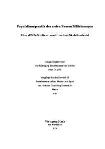 Populationsgenetik der ersten Bauern Mitteleuropas