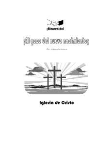 Por: Alejandro Artero. Iglesia de Cristo