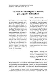 por Alejandro de Humboldt