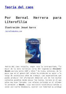 Por Bernal Herrera para Literofilia