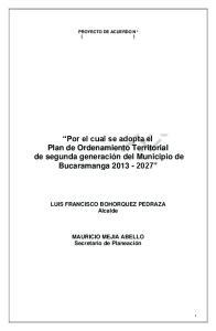Por el cual se adopta el Plan de Ordenamiento Territorial de segunda generación del Municipio de Bucaramanga