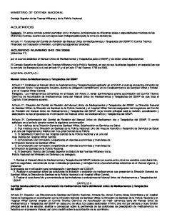 por el cual se establece el Manual Unico de Medicamentos y Terapéutica para el SSMP, y se dictan otras disposiciones