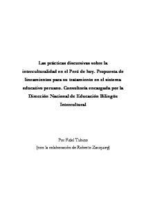 Por Fidel Tubino (con la colaboración de Roberto Zariquiey)