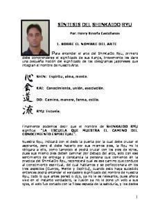 Por: Henry Binerfa Castellanos 1. SOBRE EL NOMBRE DEL ARTE
