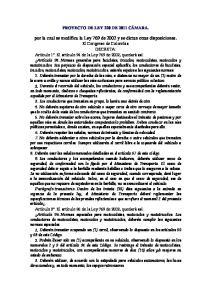 por la cual se modifica la Ley 769 de 2002 y se dictan otras disposiciones