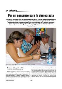 Por un consenso para la democracia