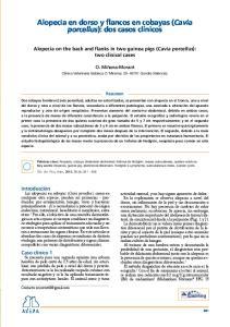 porcellus): dos casos clínicos