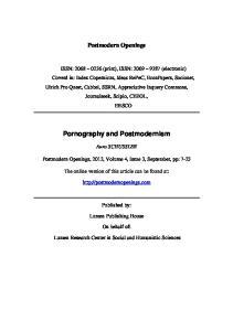 Pornography and Postmodernism