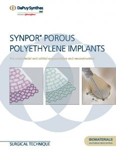 PorouS PolYethYlene ImPlantS