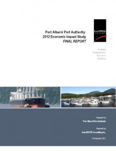 Port Alberni Port Authority: 2012 Economic Impact Study FINAL REPORT