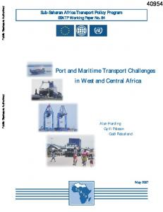 Port and Maritime Transport Challenges in West and Central Africa