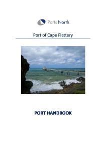 Port of Cape Flattery PORT HANDBOOK