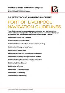 PORT OF LIVERPOOL NAVIGATION GUIDELINES