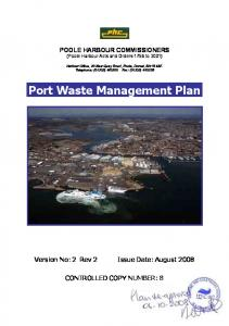 Port Waste Management Plan