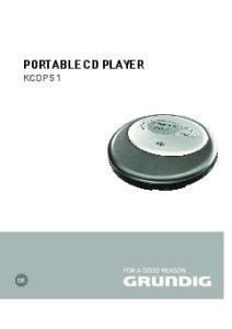 PORTABLE CD PLAYER KCDP 51