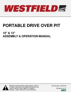 PORTABLE DRIVE OVER PIT