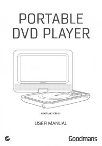 PORTABLE DVD PLAYER MODEL: GDVDPLY01 USER MANUAL