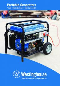 Portable Generators Power - when you need it - where you need it