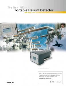 Portable Helium Detector WIDE RANGE, HIGH PERFORMANCE SYSTEM
