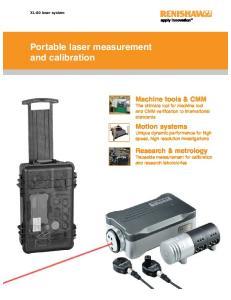 Portable laser measurement and calibration