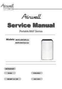 Portable MAF Series. Models: AWPO-MAF009-C11 AWPO-MAF012-C11 REFRIGERANT R410A COOLONLY REFRIGERANT