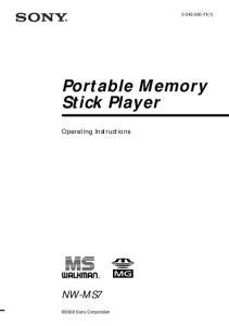 Portable Memory Stick Player