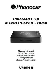 PORTABLE SD & USB PLAYER - HDMI