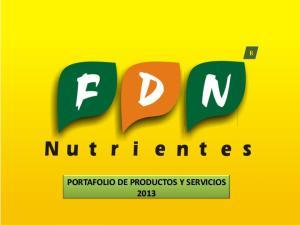 PORTAFOLIO DE PRODUCTOS Y SERVICIOS 2013