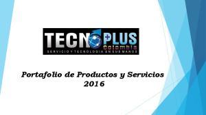 Portafolio de Productos y Servicios 2016