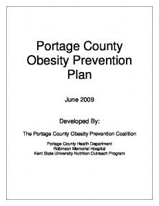 Portage County Obesity Prevention Plan