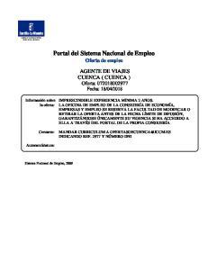 Portal del Sistema Nacional de Empleo