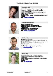 Portfolio der TeilnehmerInnen