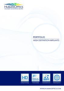PORTFOLIO HIGH DEFINITION IMPLANTS