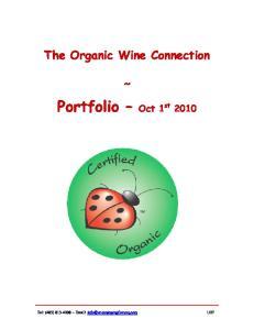 Portfolio Oct 1 st 2010