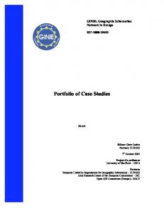 Portfolio of Case Studies
