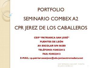 PORTFOLIO SEMINARIO COMBEX A2 CPR JEREZ DE LOS CABALLEROS
