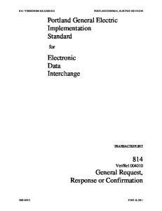 Portland General Electric Implementation Standard