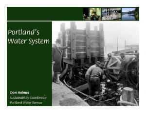 Portland s Water System