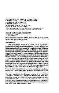 PORTRAIT OF A JEWISH PROFESSIONAL REVOLUTIONARY: