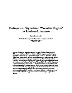 Portrayals of Stigmatized Mountain English in Southern Literature