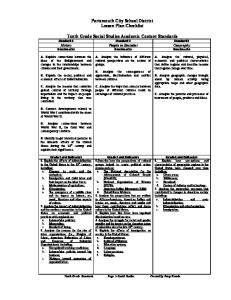 Portsmouth City School District Lesson Plan Checklist