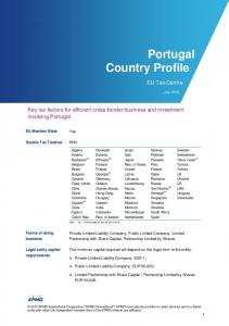 Portugal Country Profile