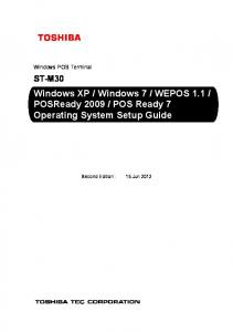 POS Ready 7 Operating System Setup Guide