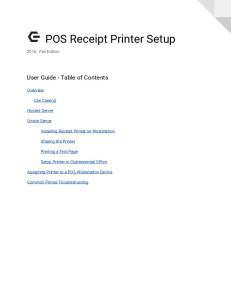 POS Receipt Printer Setup