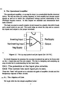 Pos Supply. Inverting Input. Noninverting input. Output Neg Supply