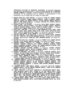 POSESIONES EFECTIVAS DE HERENCIAS INTESTADAS
