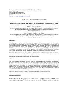 Posibilidades educativas de las extensiones y navegadores web