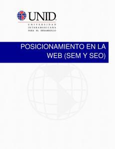 POSICIONAMIENTO EN LA WEB (SEM Y SEO)