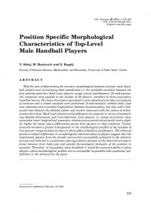 Position Specific Morphological Characteristics of Top-Level Male Handball Players